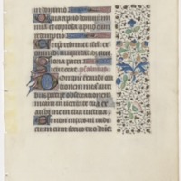 Leaf from a fifteenth century French Book of Hours