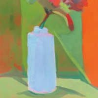 Flower and Blue Vase