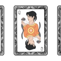 Self Portraits as Playing Cards